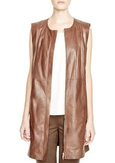 Lafayette 148 New York Inez Long Leather Vest