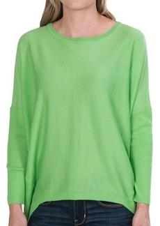 Lafayette 148 New York Italian Cashmere-Silk Hi-Low Sweater - Dolman Sleeve (For Women)