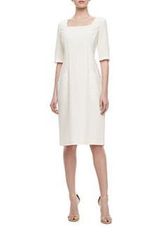 Lafayette 148 New York Iveta Front-Pocket Wool Dress