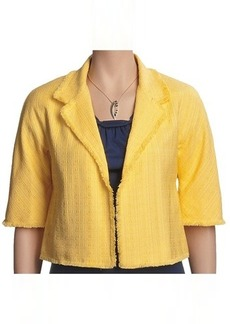 Lafayette 148 New York Jacquard Jacket - Open Front, Cotton-Rich (For Women)