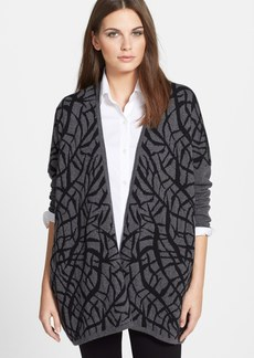 Lafayette 148 New York Jacquard Relaxed Cashmere Cardigan