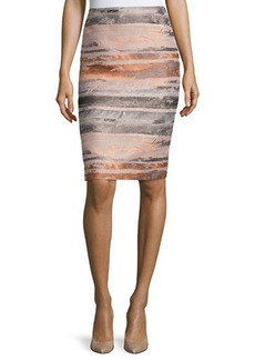 Lafayette 148 New York Jacquard Striated Pencil Skirt