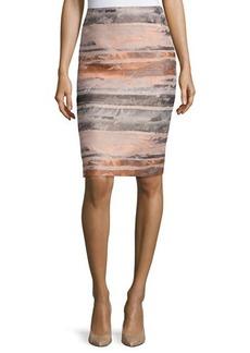 Lafayette 148 New York Jacquard Striated Pencil Skirt