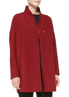 Lafayette 148 New York Jacqueline Stand-Collar Wool Swing Coat