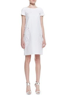 Lafayette 148 New York Jaedyn Stretch-Cotton Dress with Cutouts