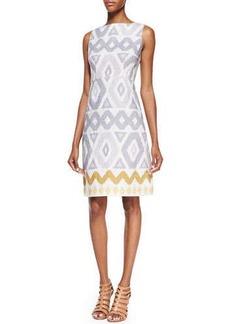 Lafayette 148 New York Janeca Sleeveless Printed Dress, Multicolor