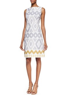 Lafayette 148 New York Janeca Sleeveless Printed Dress, Raffia