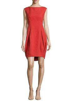 Lafayette 148 New York Jannah Sleeveless Linen Dress, Persimmon