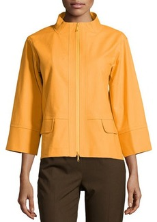 Lafayette 148 New York Jantine Bracelet-Sleeve Topper Jacket