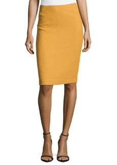 Lafayette 148 New York Javanese Cloth Slim Skirt, Sunstone