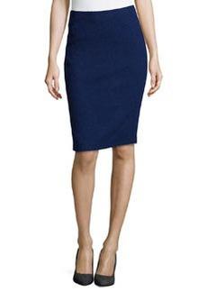 Lafayette 148 New York Javanese Modern Slim Pencil Skirt, Dusk
