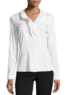 Lafayette 148 New York Jayna Layered Ruffle Blouse, White