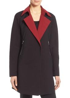 Lafayette 148 New York 'Jeanette' Two-Tone Coat