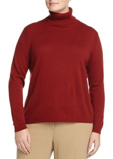 Lafayette 148 New York Plus Jersey-Stitch Turtleneck Sweater