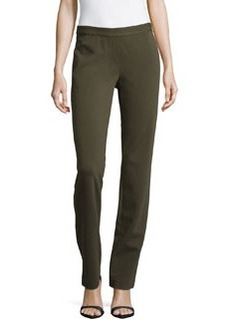 Lafayette 148 New York Jersey Straight-Leg Pants, Loden