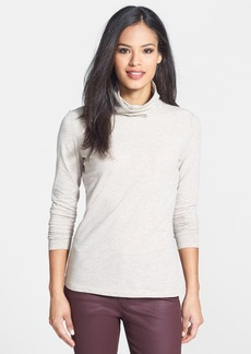 Lafayette 148 New York Jersey Turtleneck Top