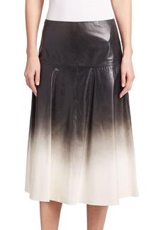 Lafayette 148 New York Jessa Ombré Leather Skirt