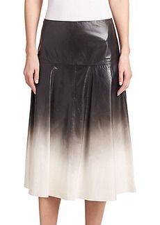 Lafayette 148 New York Jessa Ombré Leather Skirt