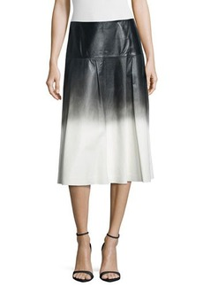 Lafayette 148 New York Jessa Ombre Leather Skirt  Jessa Ombre Leather Skirt