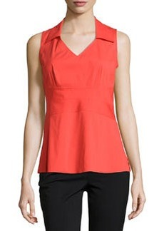 Lafayette 148 New York Jessamine V-Neck Sleeveless Blouse, Begonia