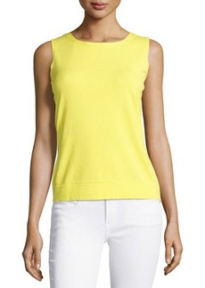 Lafayette 148 New York Jewel-Neck Knit Shell