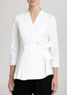 Lafayette 148 New York Jillian Wrap Blouse