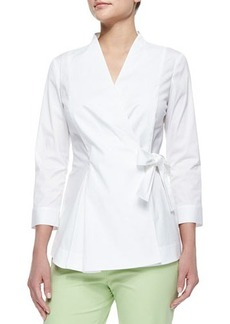Lafayette 148 New York Jillian Wrap Blouse W/ Side-Tie  Jillian Wrap Blouse W/ Side-Tie