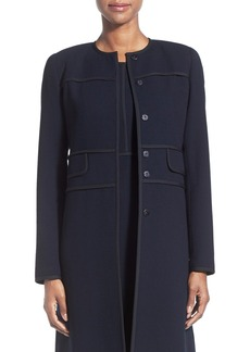 Lafayette 148 New York 'Joanne' Wool Crepe Collarless Topper