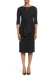 Lafayette 148 New York 'Jolie' Wrap Bodice Crepe Dress (Regular & Petite)