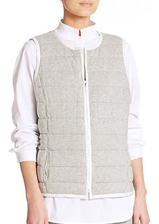 Lafayette 148 New York Jonah Reversible Quilted Vest