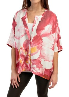 Lafayette 148 New York Jordanna Silk Blouse - Elbow Sleeve (For Women)