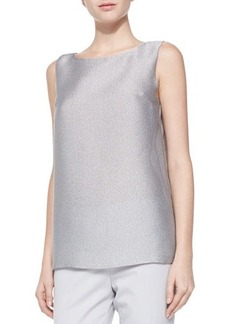 Lafayette 148 New York Josa Metallic Mesh Blouse