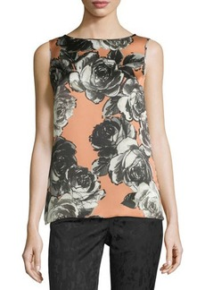 Lafayette 148 New York Josa Sleeveless Floral Blouse