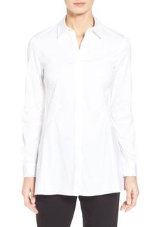 Lafayette 148 New York 'Joseline' Stretch Poplin Shirt