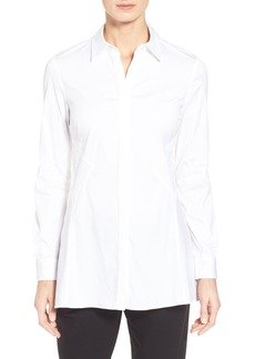 Lafayette 148 New York 'Joseline' Stretch Poplin Shirt
