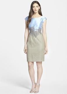 Lafayette 148 New York 'Josette' Beaded Sheath Dress (Regular & Petite)