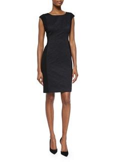 Lafayette 148 New York Joss Cap-Sleeve Jacquard Sheath Dress  Joss Cap-Sleeve Jacquard Sheath Dress