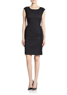 Lafayette 148 New York Joss Jacquard-Detail Dress