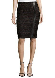 Lafayette 148 New York Jovanna Flamenco Tweed Skirt, Black