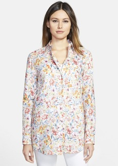 Lafayette 148 New York 'Jude' Floral Print Linen Blouse