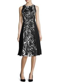 Lafayette 148 New York Judy Stretch-Knit Palm-Print Dress
