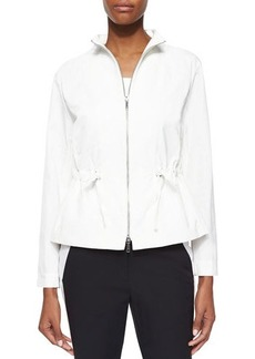Lafayette 148 New York Julian Chic Outerwear Two-Way-Zip Jacket  Julian Chic Outerwear Two-Way-Zip Jacket