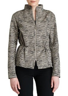 Lafayette 148 New York Julian Zip-Front Print Topper Jacket