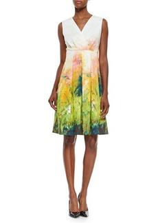 Lafayette 148 New York Junette Abstract Floral-Print Dress  Junette Abstract Floral-Print Dress