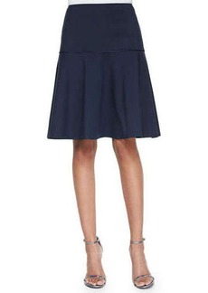 Lafayette 148 New York Keana Flounce Full Skirt, Ink