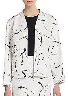 Lafayette 148 New York Keandra Splatter-Print Jacket
