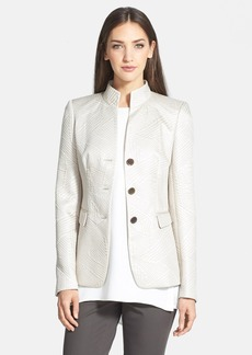 Lafayette 148 New York 'Kerianne' Stand Collar Three Button Jacket