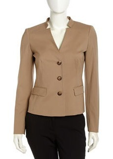 Lafayette 148 New York Kerri Stretch Wool Jacket, Chai