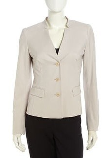 Lafayette 148 New York Kerri Stretch-Wool Tailored Jacket, Khaki