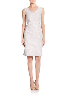 Lafayette 148 New York Kiersten Jacquard Cotton & Silk Dress